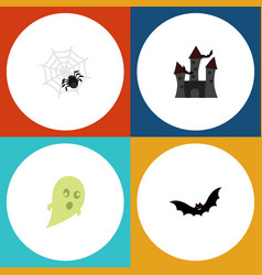 flat icon celebrate set of phantom fortress vector image vector image