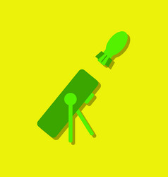 Flat icon design collection military mortar and vector