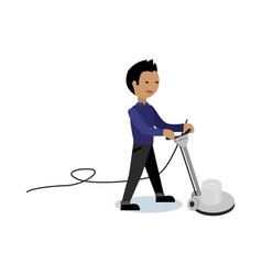 Floor cleaning concept in flat style vector