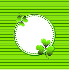 Frame for St Patricks Day vector image vector image