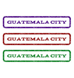 guatemala city watermark stamp vector image vector image