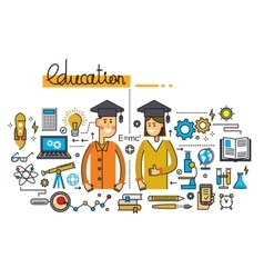 Man girl and education vector