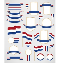 Netherlands flag decoration elements vector