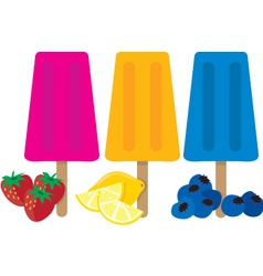 popsicles vector image vector image