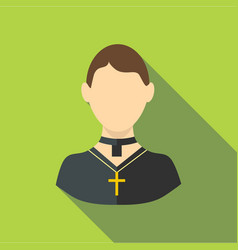 Priest icon flat style vector