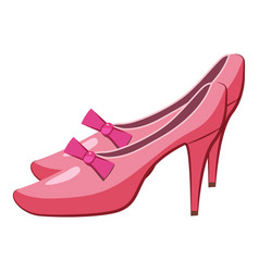 Princess shoes icon cartoon style vector