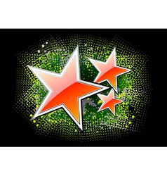 red stars on the black background vector image