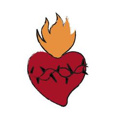 Sacred heart icon vector