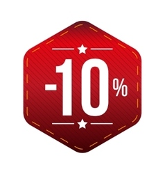 Sale ten percent off banner red patch vector image vector image