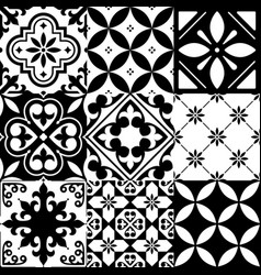 Spanish tiles moroccan tiles design seamless bla vector