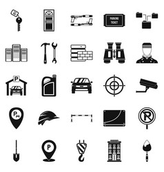 Spanner icons set simple style vector