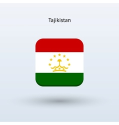 Tajikistan flag icon vector