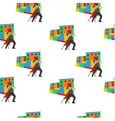Tango dance seamless pattern vector