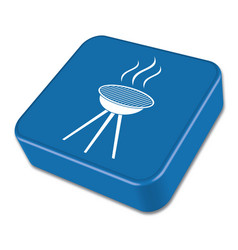 The barbecue icon vector