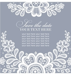 White lace design vector image