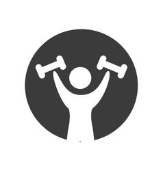 human silhouette exercising icon vector image