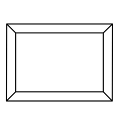 Picture icon outline style vector image