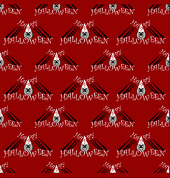 Seamless pattern with a spider on halloween vector