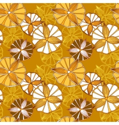 Seamless spring pattern with flowers vector