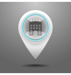 Glossy hotel icon vector