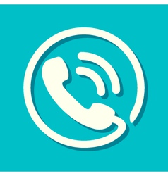 Flat phone icon vector