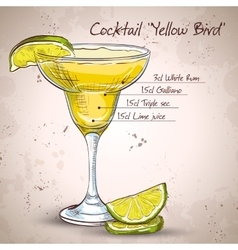Tending vector images over 420 for Cocktail yellow bird