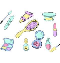 cosmetic color set vector image
