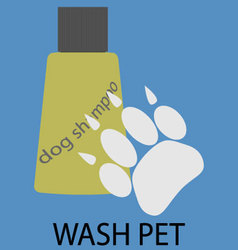 Wash pet design flat icon vector
