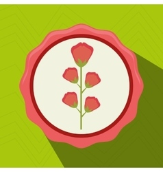 beatiful flower design vector image
