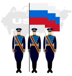 Soldiers Guard of Honour in the Russian Federation vector image