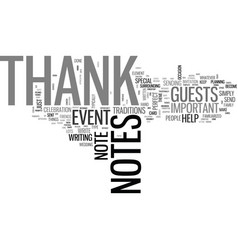 A guide to thank you notes text word cloud concept vector