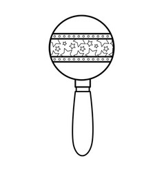 baby rattle toy vector image