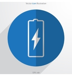 battery web flat icon vector image