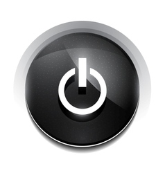 black power button vector image vector image