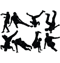 break dance collection - vector image vector image
