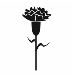 Carnation icon in simple style vector