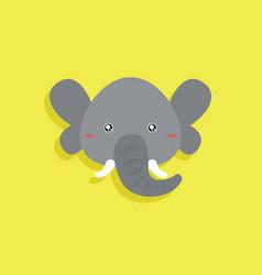 Cartoon elephant face vector