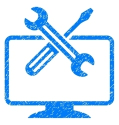 Computer tools grainy texture icon vector