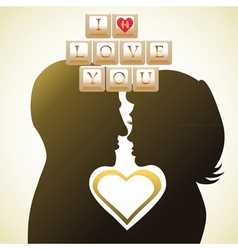 couple in love card vector image vector image