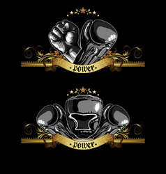 decorative symbol of boxing vector image vector image