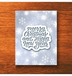 Holly jolly merry christmas greeting card vector
