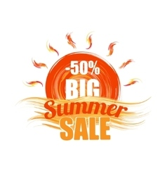 hot summer sale template banner vector image vector image