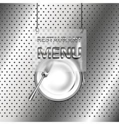 iron restaurant menu vector image vector image