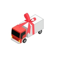 Isometric toy truck vector