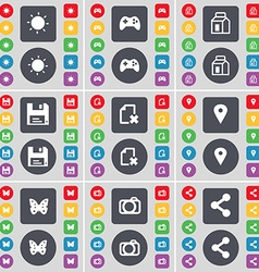 Light gamepad packing floppy file checkpoint vector