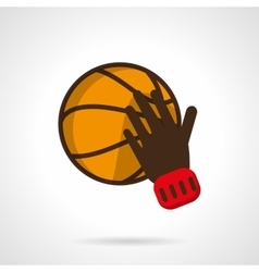Play basketball sign flat color design icon vector image