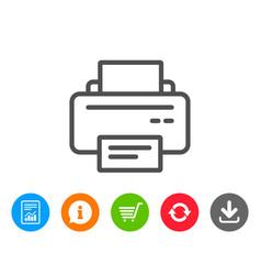 Printer icon printout device sign vector