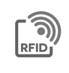 Rfid tag icon radio frequency identification vector