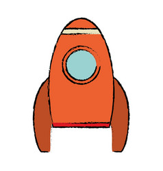 rocket spaceship travel icon vector image