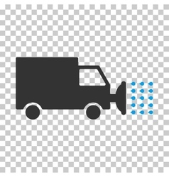 Street washing car eps icon vector